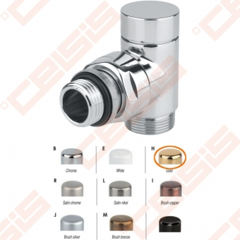 """Apdailinis kampinis ventilis (spalva: aukso) CARLO POLETTI V302; Išorė / Išorė; 1/2"""" x (24 - 19)"""