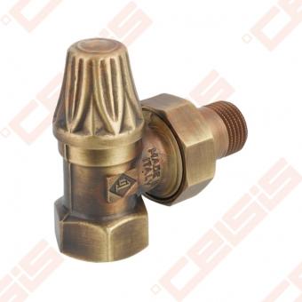 "Balansinis kampinis ventilis (spalva: bronza) CARLO POLETTI V674; Vidus / Išorė; 1/2"" x 1/2"""