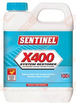 Ploviklis šildymo sistemos Sentinel X400 1L