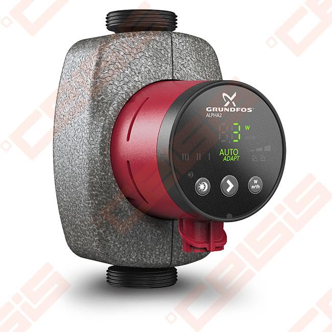 cirkuliacinis siurblys negeriamam vandeniui grundfos alpha2 25 40 180 1 230v celsis. Black Bedroom Furniture Sets. Home Design Ideas