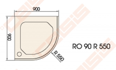 du o pad klas paa classic 90x90 su panele ir kojel mis baltas radius 550 celsis. Black Bedroom Furniture Sets. Home Design Ideas