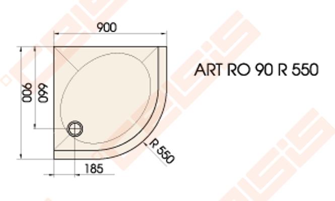 du o pad klas paa art 90x90 su panele ir kojel mis baltas radius 550 celsis. Black Bedroom Furniture Sets. Home Design Ideas