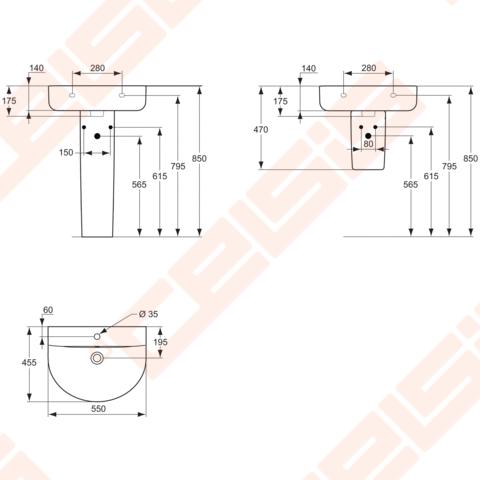 praustuvas ideal standard connect arc 55x45 5 cm celsis. Black Bedroom Furniture Sets. Home Design Ideas