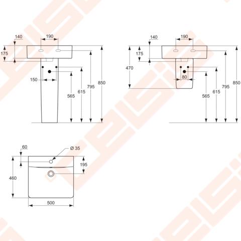 praustuvas ideal standard connect cube 50x46 cm celsis. Black Bedroom Furniture Sets. Home Design Ideas