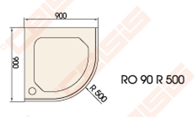 du o pad klas paa classic 90x90 su panele ir kojel mis baltas radius 500 celsis. Black Bedroom Furniture Sets. Home Design Ideas